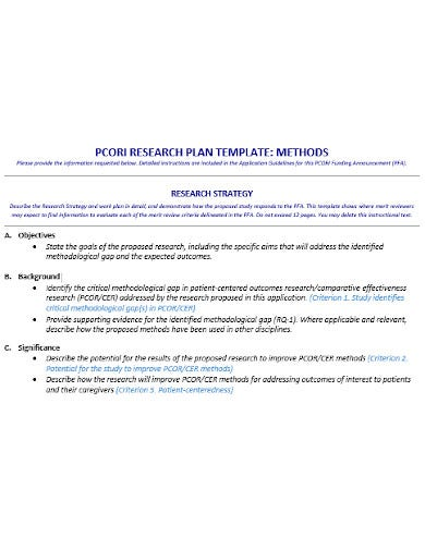 research work plan template in doc