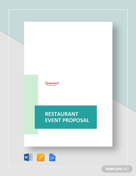 restaurant event proposal
