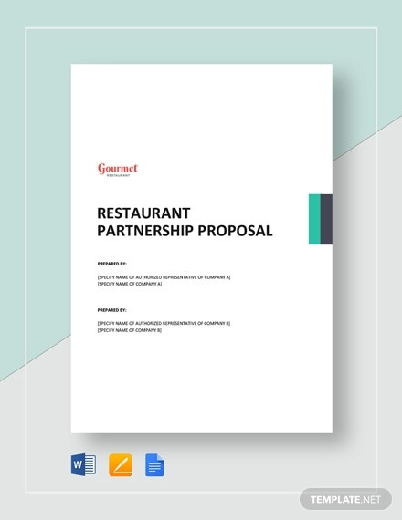 restaurant partnership proposal