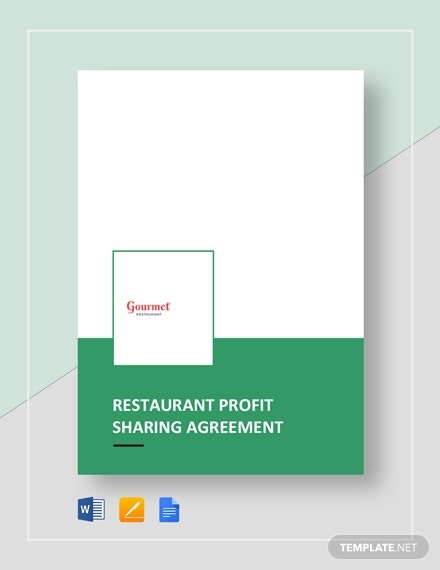 restaurant profit sharing agreement