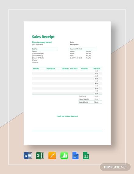 sales receipt 2