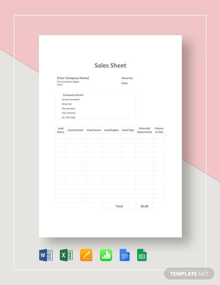 sales sheet4