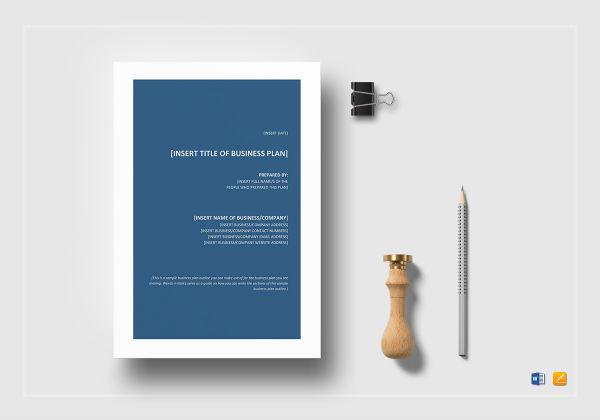 sample business plan outline mock up