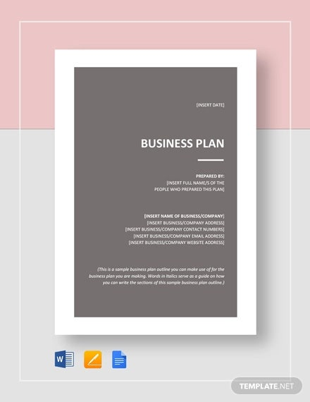 sample business plan outline template