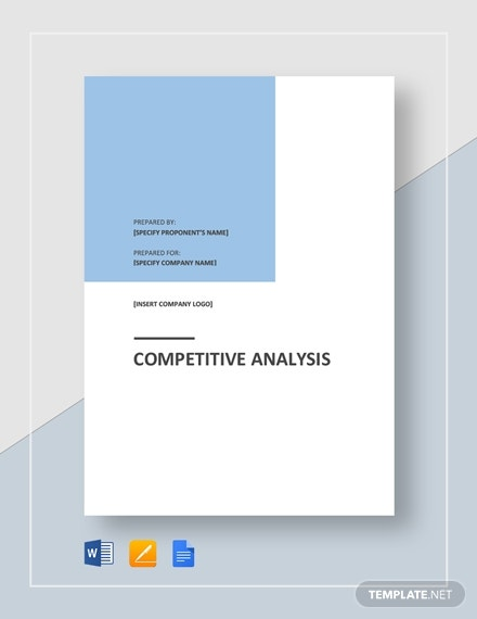 sample competitive analysis