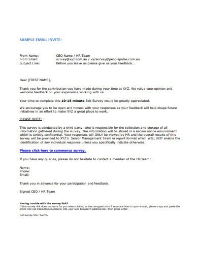 sample interview invitation email template