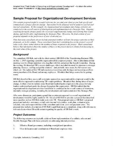 sample proposal for organizational development service