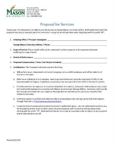sample proposal for services