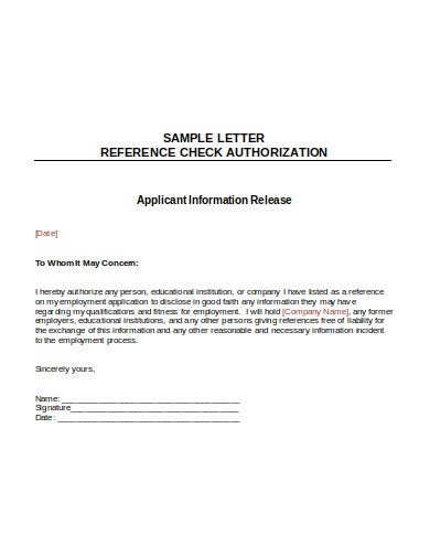 10 Reference Check Letter Templates In Google Docs Word Pages Pdf Free Premium Templates