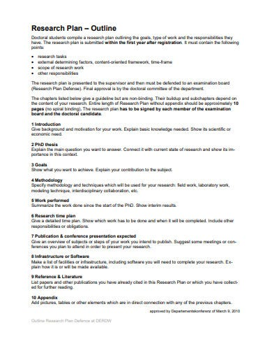 sample research work plan template