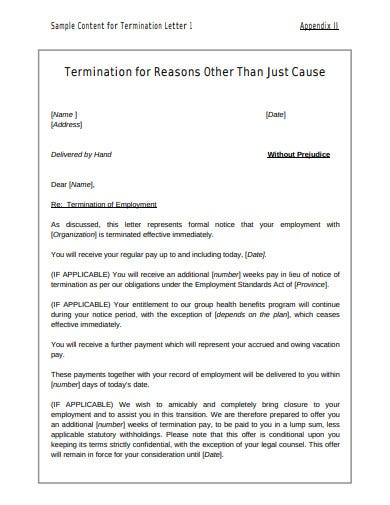 self termination letter template