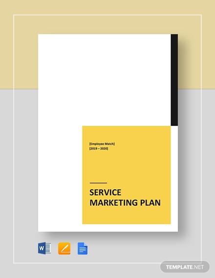 service marketing plan