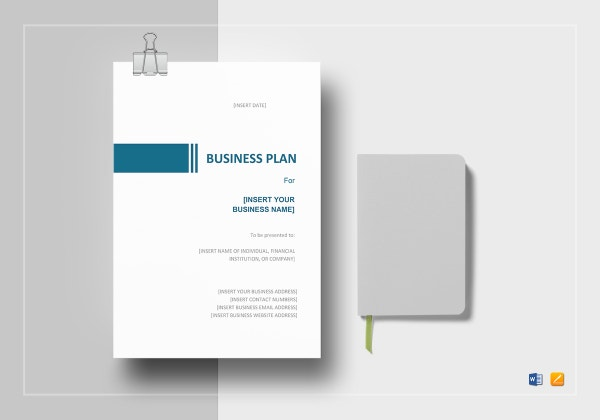 simple business plan template mock up 600x420
