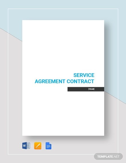 simple service agreement contract 3