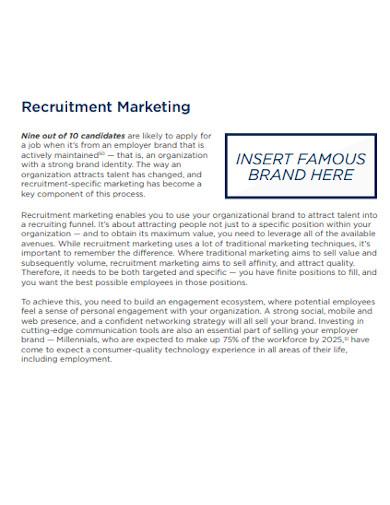 staff recruitment marketing strategy
