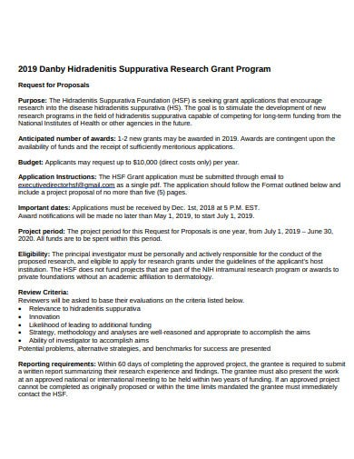 standard research grant proposal