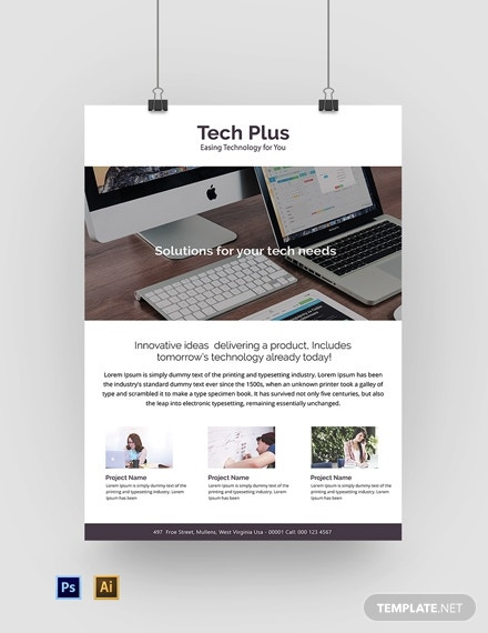startup business poster template