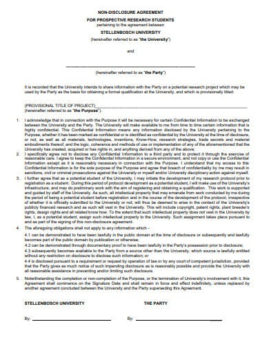 student research confidentiality agreement template