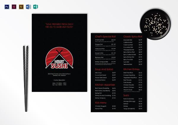 sushi menu plan 1