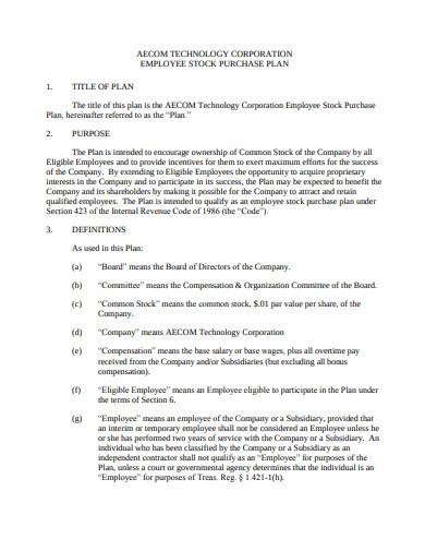 technology corporation employee stock purchase plan