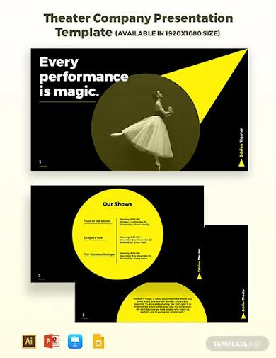 theater company presentation template