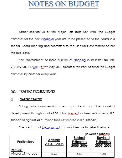 transport company budget template in doc