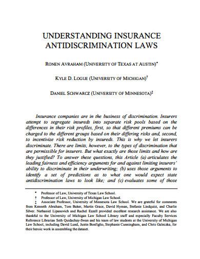 understanding insurance antidiscrimination laws