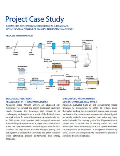 waste water project case study