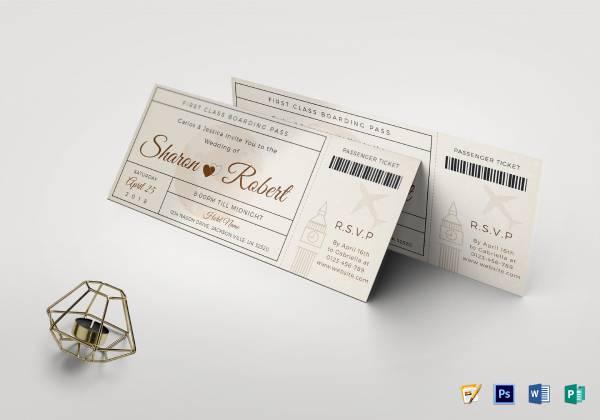 wedding boarding pass invitation1