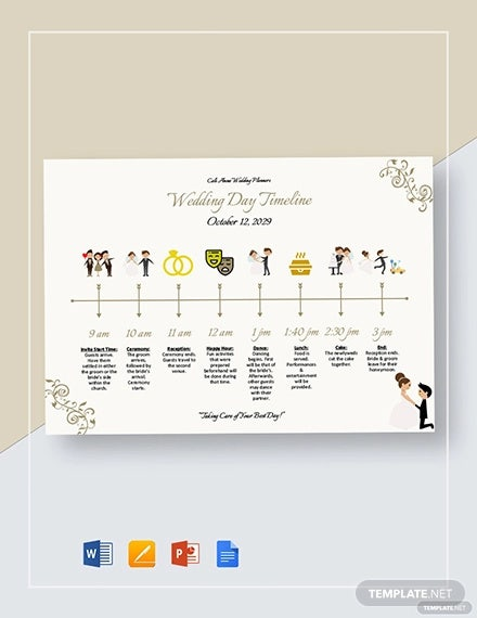 wedding day timeline template1