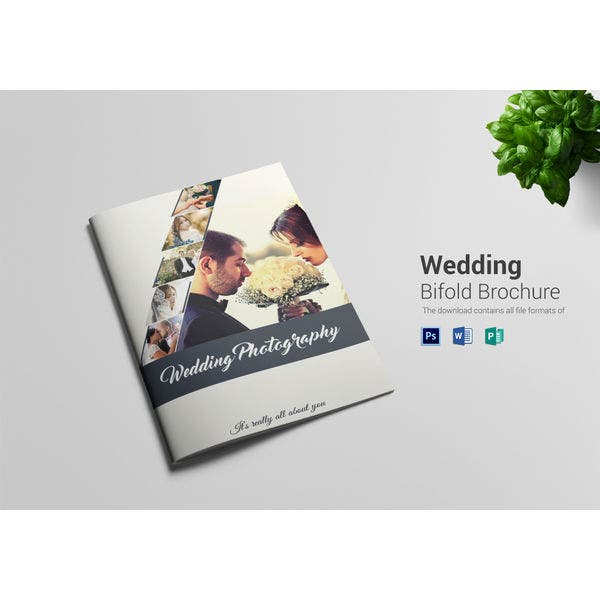 wedding photography bi fold brochure template