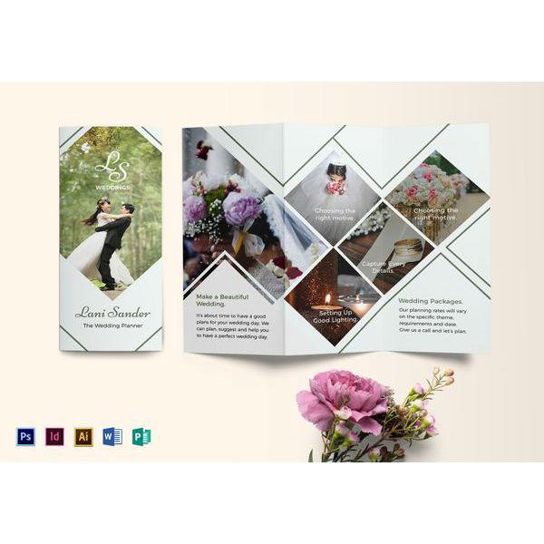 wedding planner brochure template1