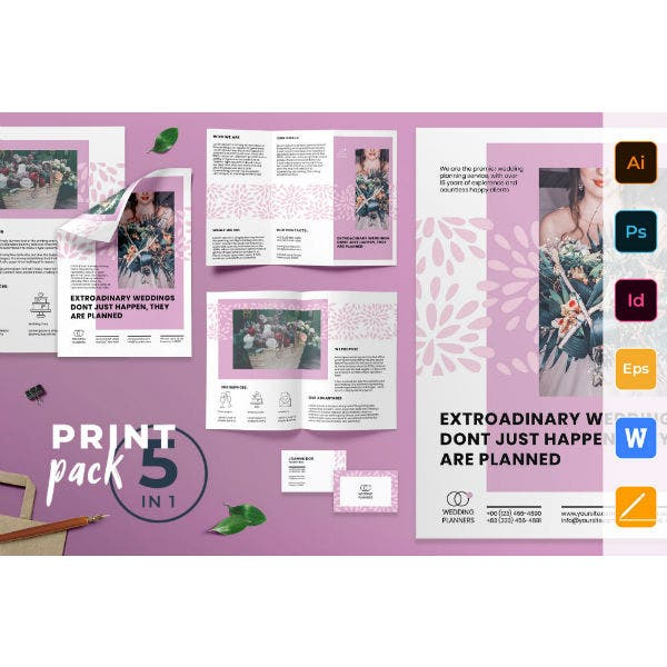 wedding planner print pack