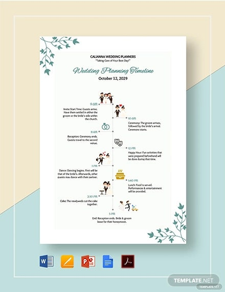 wedding planning timeline template1