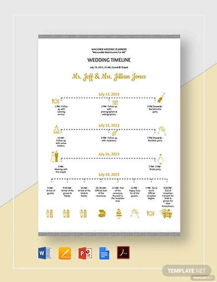 wedding timeline template1