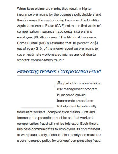 workers' compensation claim fraud