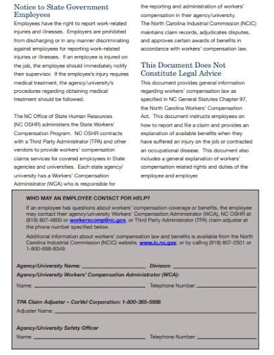 workers' compensation employee handbook