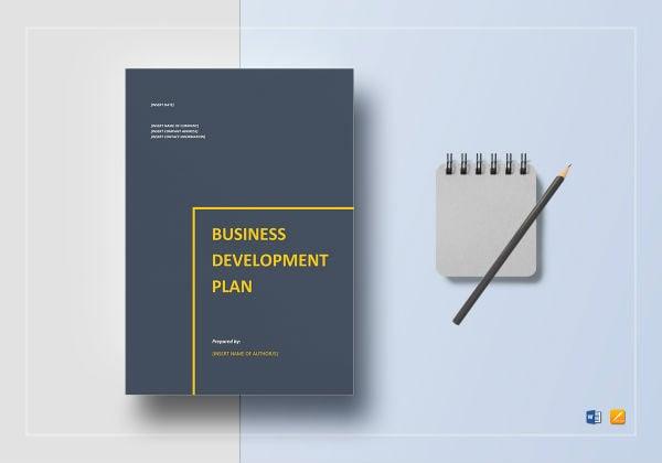 business development plan template mockup