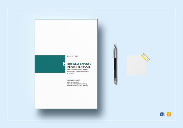 business expense report template 1