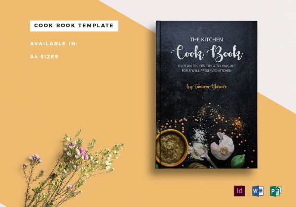cookbook catalog template sample 1
