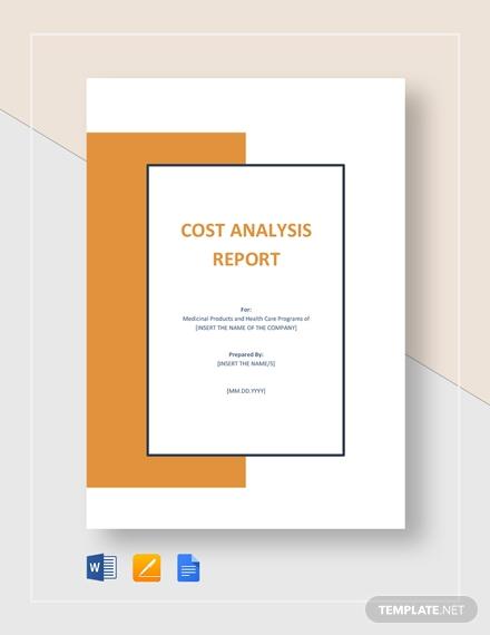 cost analysis report