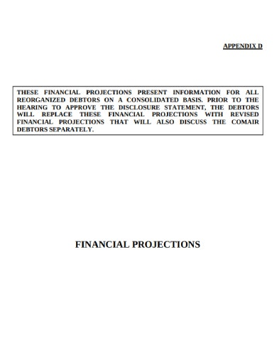 financial projection sample