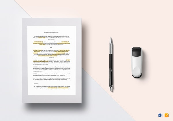 investment contract template mockup 600x420