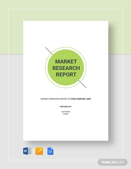 market research report 2