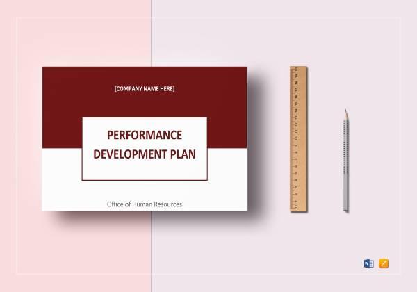performance development plan template mockup