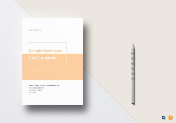 sample healthcare swot analysis mock up 600x420