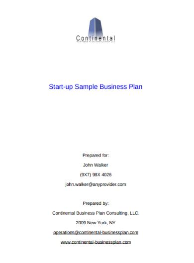 start up business sample