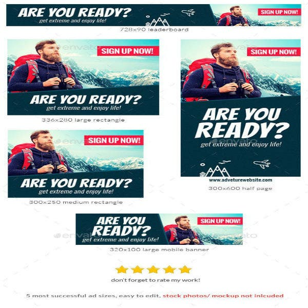 travel banner ad