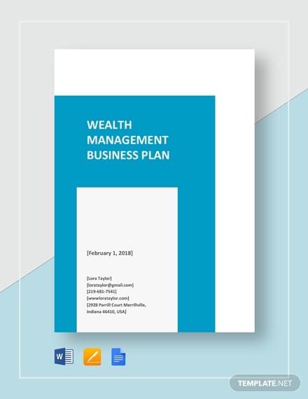 wealth management business plan