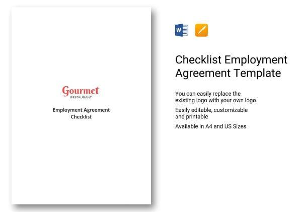 243 simple restaurant employment agreement checklist 1